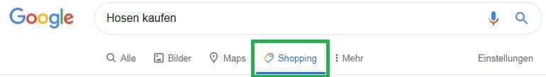 Google Shopping Reiter