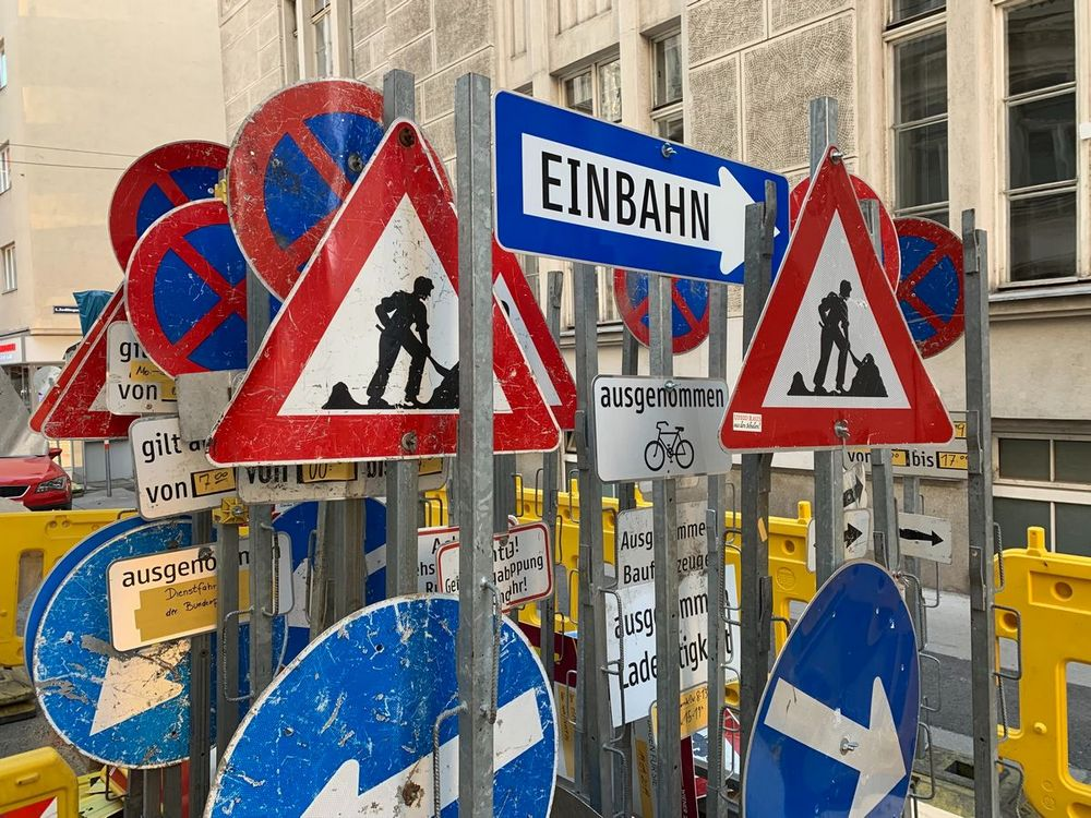 an image of german street signs