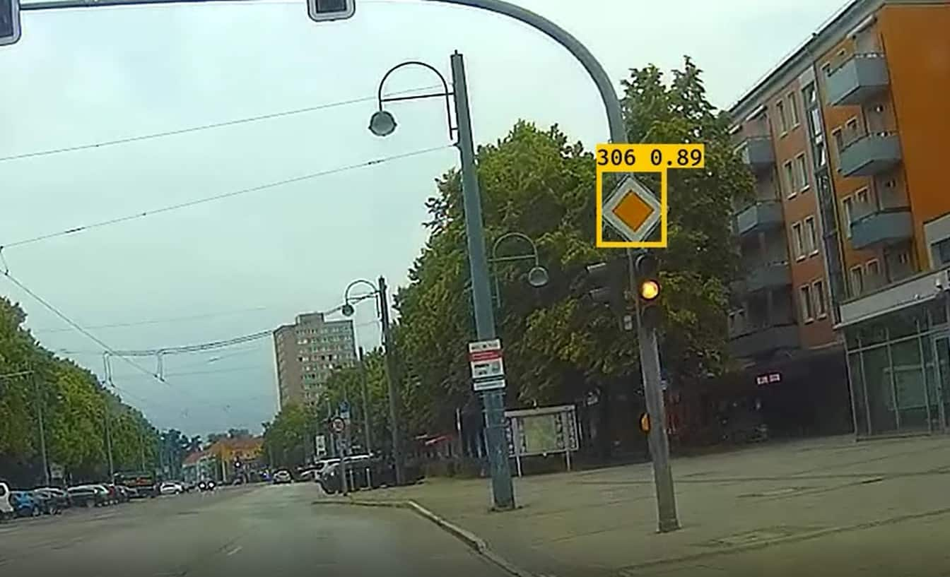 ai street sign detection example